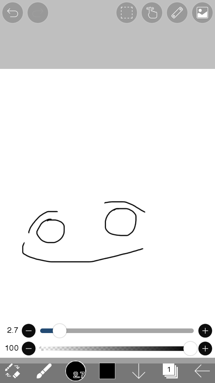 携帯で ゆるい絵の簡単な描き方 イラスト きょうはなにをしよう