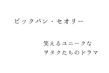【ビックバン・セオリー】笑えるユニークなヲタクたちのドラマの法則【海外ドラマ】