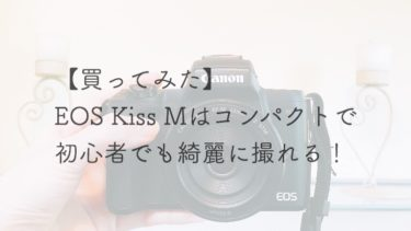 【カメラ】EOS Kiss Mはコンパクトで初心者でも綺麗に撮れる!【買ってみた】
