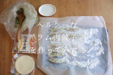 【レシピ】ヘルシーなラム肉餃子を作ってみた!【手作り】
