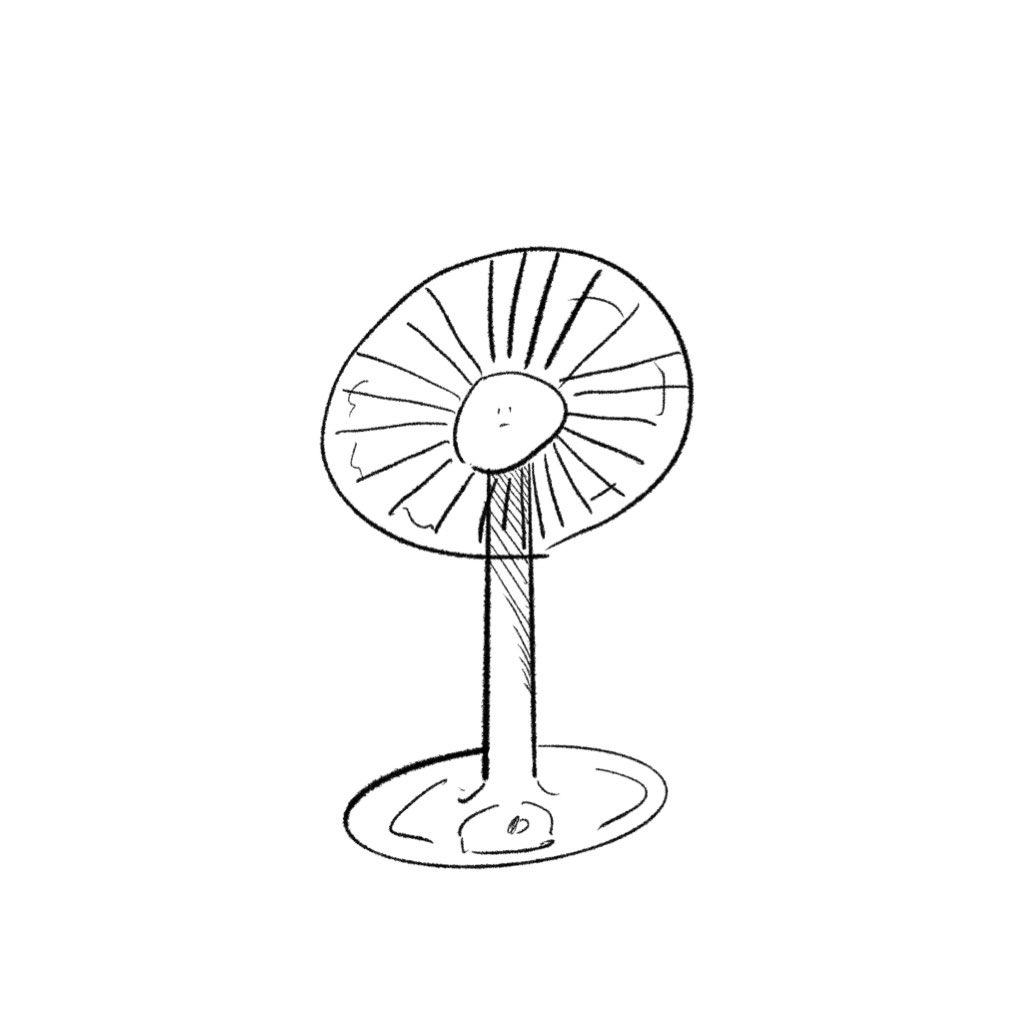フリー素材 日用品さん扇風機