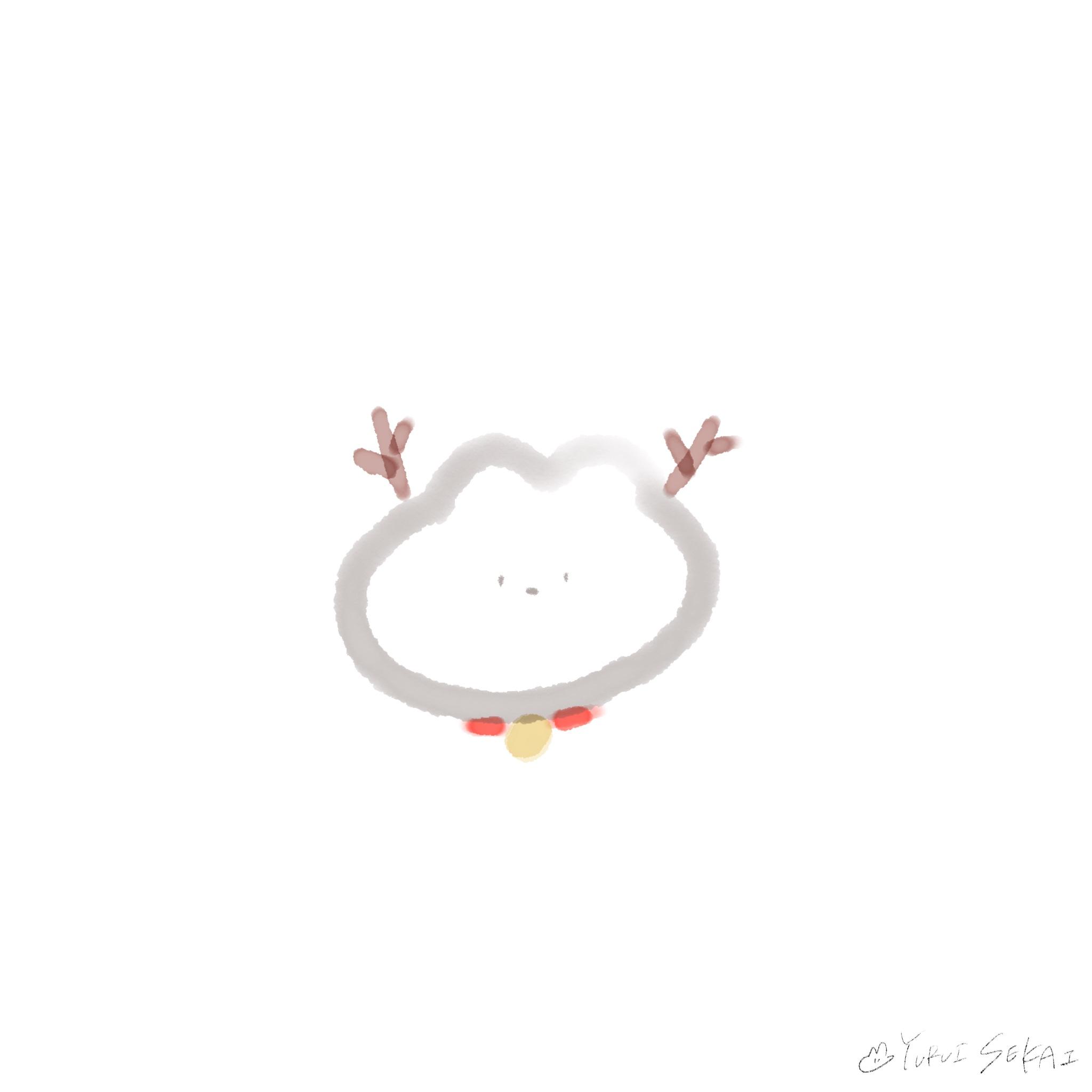 【クリスマスのフリー素材】ゆるいせかいのちいさなイラストの詰め合わせ♡【ゆるいイラスト】クリスマストナカイ