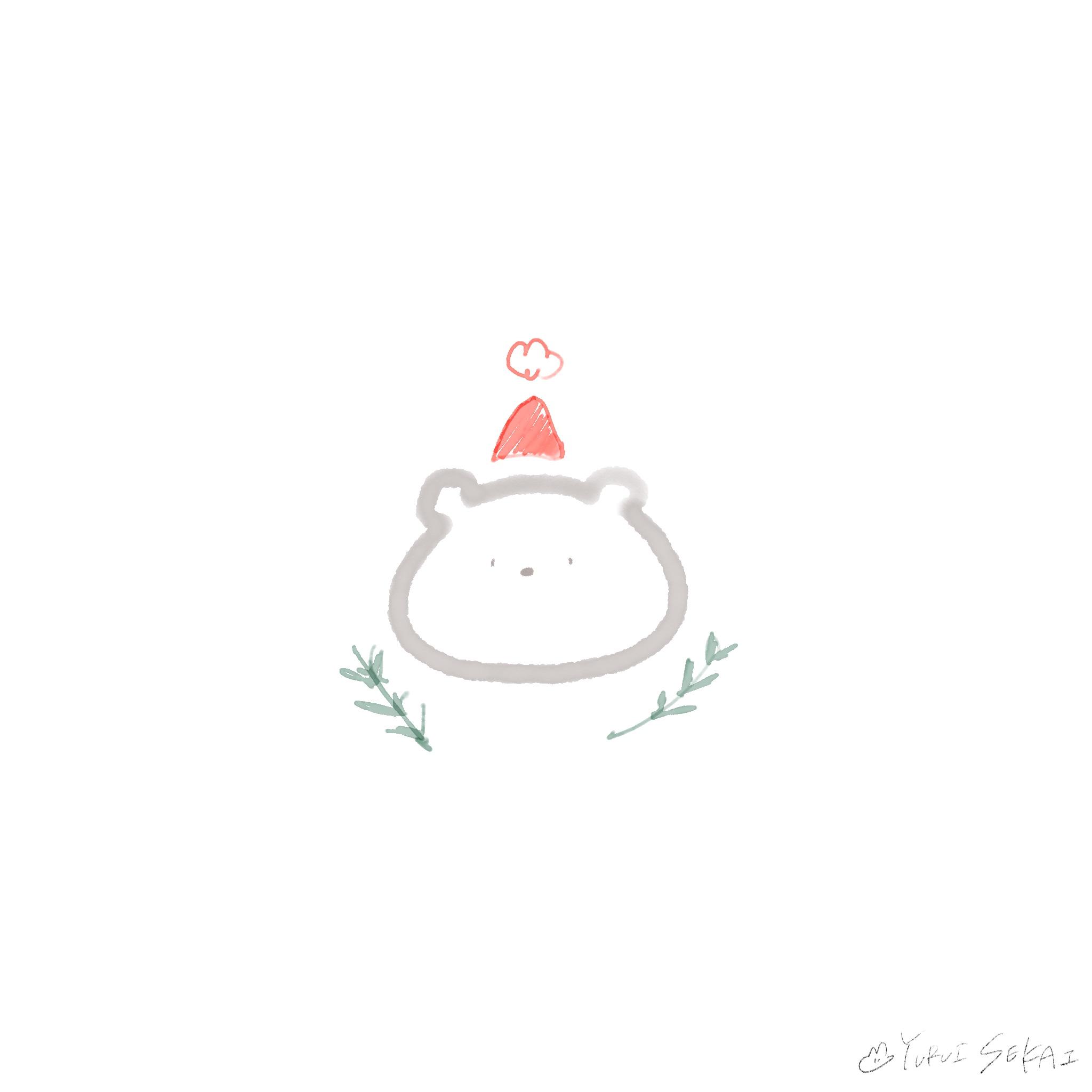 【クリスマスのフリー素材】ゆるいせかいのちいさなイラストの詰め合わせ♡【ゆるいイラスト】クリスマスサンタさん