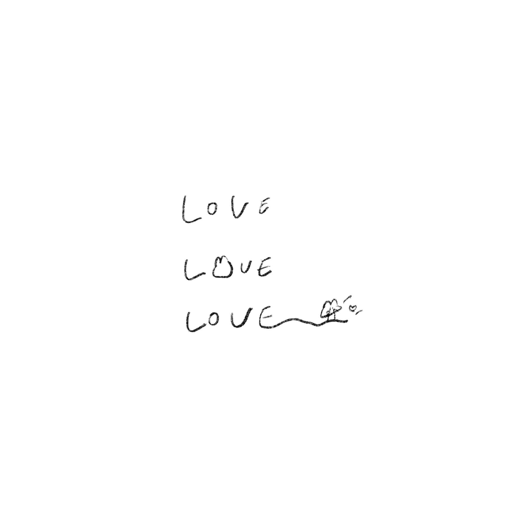 【フリー素材】ゆるいせかいのちいさなイラストをまとめました【ゆるいイラスト】love うさぎさん