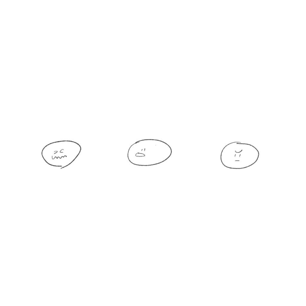 ゆるいせかい 表情3パターン