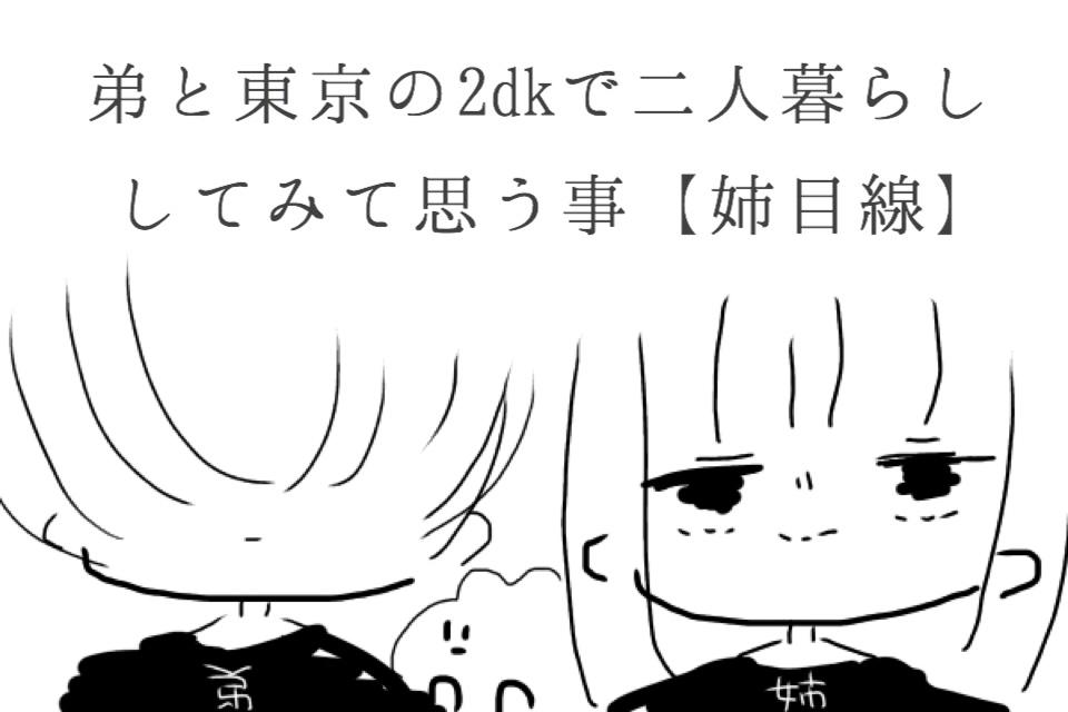 弟と東京の2dkで二人暮らししてみて思う事【姉目線】