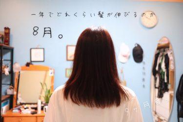 一年でどれくらい髪が伸びるのか、8月。【9ヵ月目】